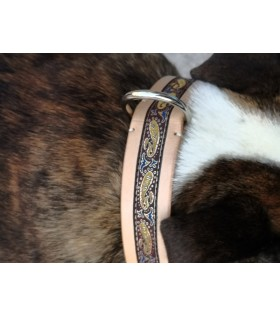 LUXURY COLLARS Ranuncolo REAL LEATHER FOR ENGLISH BULLDOG AND FRENCH BULLDOG